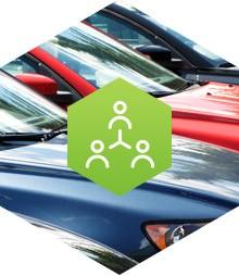 Samochody z grafiką oznaczającą benefity administracyjne