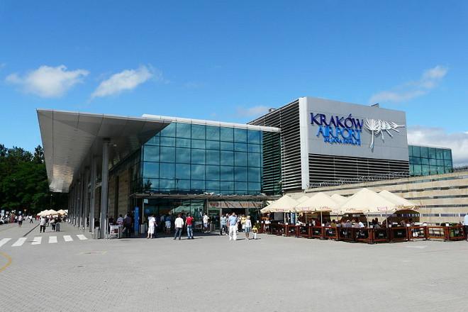 Zdjęcie lotniska w Krakowie Balice